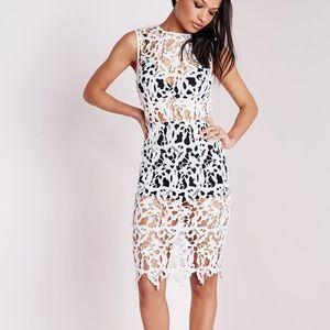 MissGuided Crochet Lace Bra Insert Bodycon Dress
